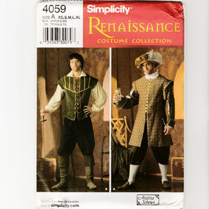 Mens Renaissance Costume-Sewing Pattern-Doublet